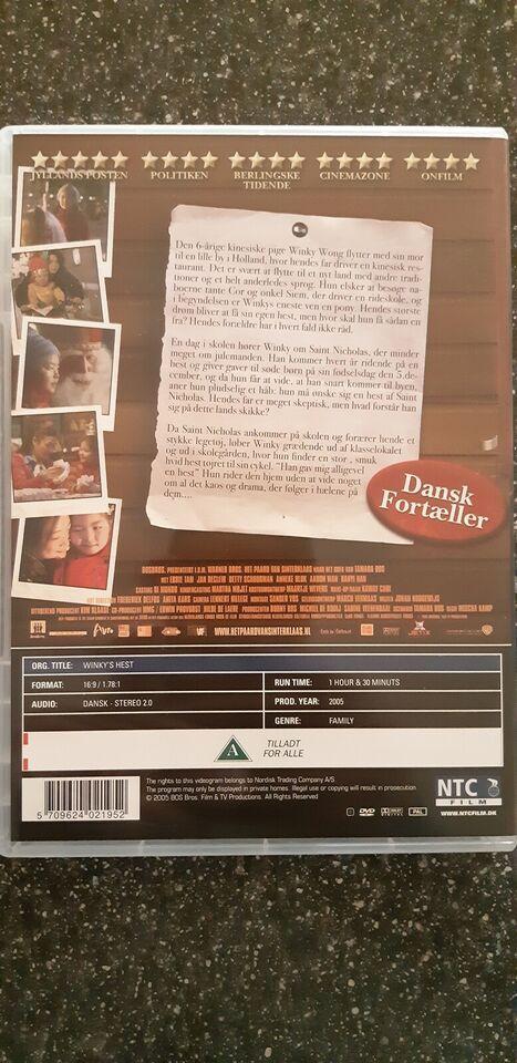 Winky's hest, DVD, familiefilm