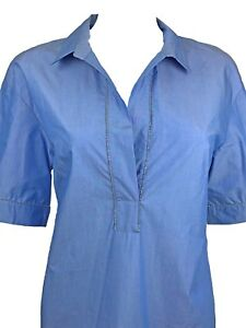 Size Off amp; Top Large St tags silk 500 White W Blue 82 Cotton John ~ New ZRgx0Avw