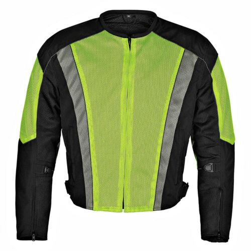 Men/'s Dallas Textile Motorcycle Jacket WaterProof  by WICKED STOCK MBJ054