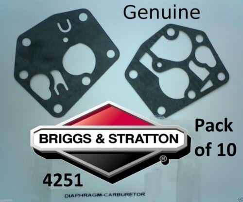 amp; Carburador Briggs Junta 10 Diafragma Genuino 4251 De Stratton 795083 Paquete OxxTwX
