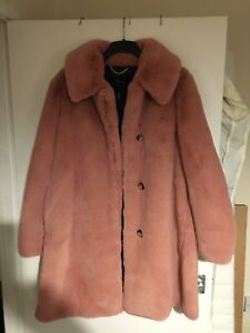 New Faux J Rose Ladies Ash Size crew Coat 18 Uk16 Fur Brand L AYqwdx44