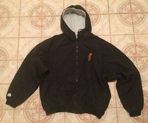 cheap for discount 57807 3e562 Details about Rare Hoodie Vtg Satin Majestic Starter throwback San  Francisco Giants jacket L