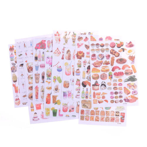 2Sheets Creative Food Drinks Diary Scrapbook Decoration DIY Stickers Toys Gift~
