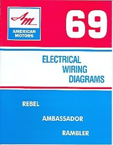 1969 69 amc javelin \u0026 amx wiring diagram manual ebay AMC AMX Door image is loading 1969 69 amc javelin amp amx wiring diagram