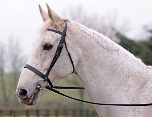 Cottage-Craft-Sovereign-Lincoln-Snaffle-Bridle-With-Plain-Reins-Black-or-Havana