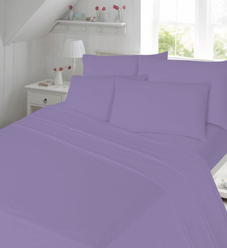 100/% Brushed Cotton Flannelette 4PC Sheet Set Fitted Flat Bed Sheets Pillowcases