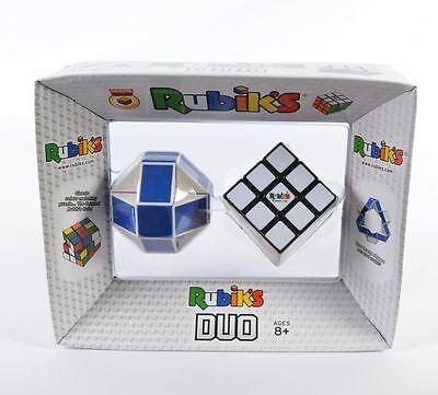 Rubik's Duo Luxury Cubes Set 3x3 & Twist Snake 100% Official Original New