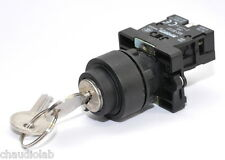 Key Lock Power On-Off Maintained Key Switch (Turn On Keep Key)