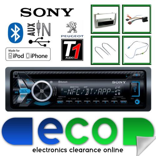 Peugeot 308 Sony Cd Mp3 Usb Bluetooth Manos Libres Radio estéreo Gris Panel Kit
