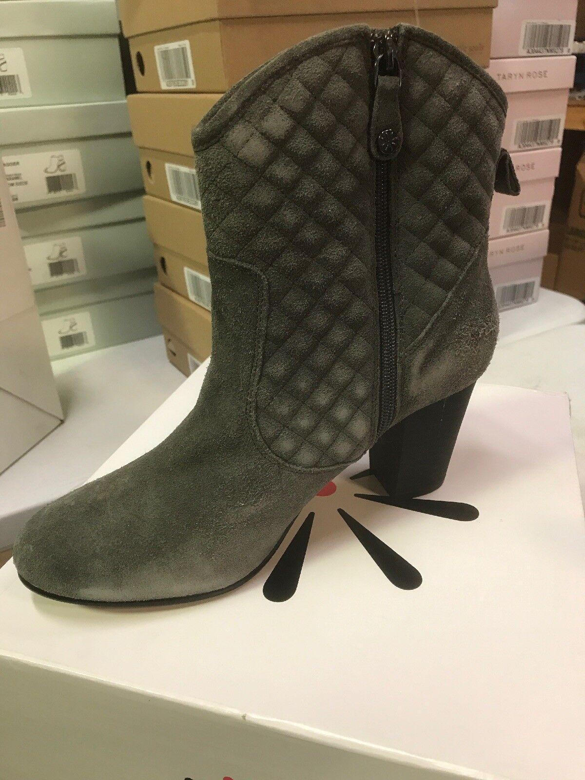 Isaac Mizrahi Live  botas de gamuza tacón apilados Acolchado gris para Mujer W Nuevo