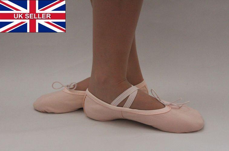 Ballet Shoes Slippers Pink Canvas Children's Adult's Size Dance Gymnastics New