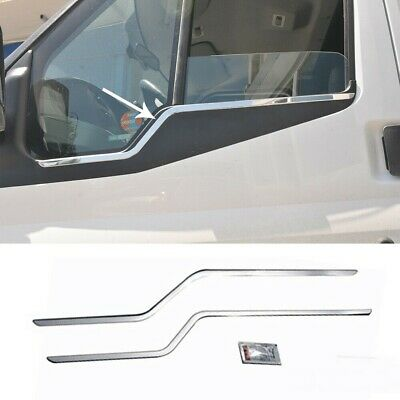 TRANSIT MK7 Stainless Steel Chrome Side Door Windows Sill Cover 2 Pieces