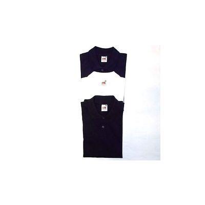 Polo femme neuf noir marine ou blanc cintré Taille S M L XL ou 2XL