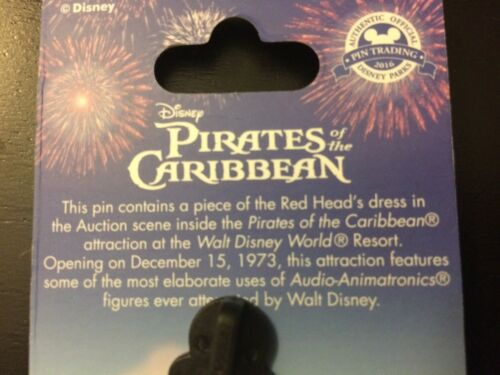 Pirates of the Caribbean Red Head 2016 Walt Disney World Piece of History Pin