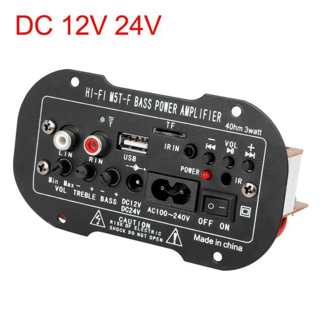 Vehicle Car DC 12V 24V HiFi Audio Stereo Power Digital Amplifier Board