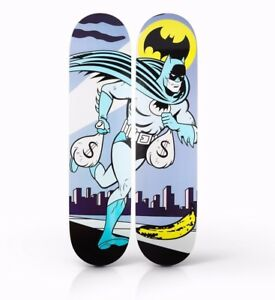 Tava-Alfred-start-the-car-Batman-skateboard-like-Kaws-Supreme-skate-Pop-ART