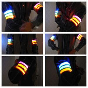 LED-Armband-Reflektorband-Leuchtband-Jogging-Sicherheitsband-Klettband-Outdoor