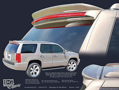 FITS CADILLAC ESCALADE SUV 2007-2014 BOLT-ON REAR TRUNK SPOILER UNPAINTED