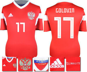 sports shoes f70c2 5ff50 Details about GOLOVIN 17 - RUSSIA HOME 2018 WORLD CUP ADIDAS SHIRT SS = KIDS