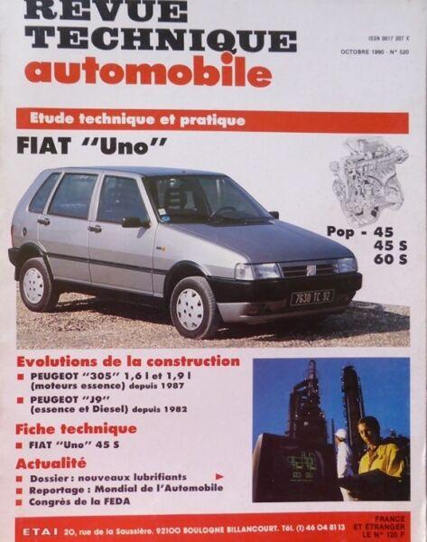 Agressief Neuf Revue Technique Fiat Uno Pop 45 S 60 Srta 520 1990 Peugeot 305 Peugeot J9