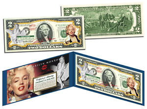 MARILYN-MONROE-Legal-Tender-USA-2-Dollar-Bill-OFFICIALLY-LICENSED