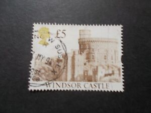 GB-1992-Castles-Stamps-5-Brown-Value-Very-Fine-Used-E-UK-Seller