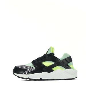 Details about Nike Air Huarache Women's Trainers Sneakers Lace Up Shoes, Black/Volt