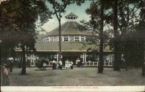 Topeka-KS-Carousel-Merry-Go-Round-Vinewood-Park-c1910-Postcard