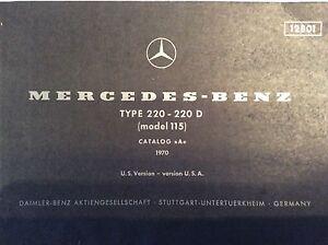 Sensational Mercedes Benz Factory Parts Breakdown For 220 220D Catalog 115 Wiring Cloud Hisonuggs Outletorg