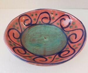 EARTHWORKS-POTTERY-Caribbean-Handmade-Stoneware-Bowl-Beaded-Surface-8-034