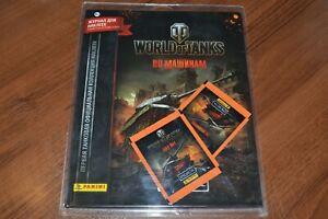 Panini-World-of-Tanks-empty-hardcover-album-2-packets-stickers