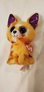 """RARE TY Beanie Boo Baby Pablo the Chihuahua Dog 7"""" with Ear Tags Stuffed Animal"""
