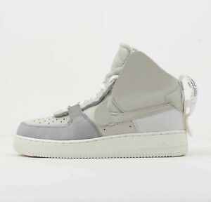 302f010817092b Nike AF1 Air Force 1 High PSNY Wolf Grey Sail Basketball Shoes ...