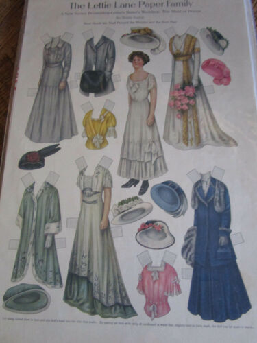 1909 Sheila Young Lettie Lane Paper Doll Sister's Victorian Wedding UNCUT