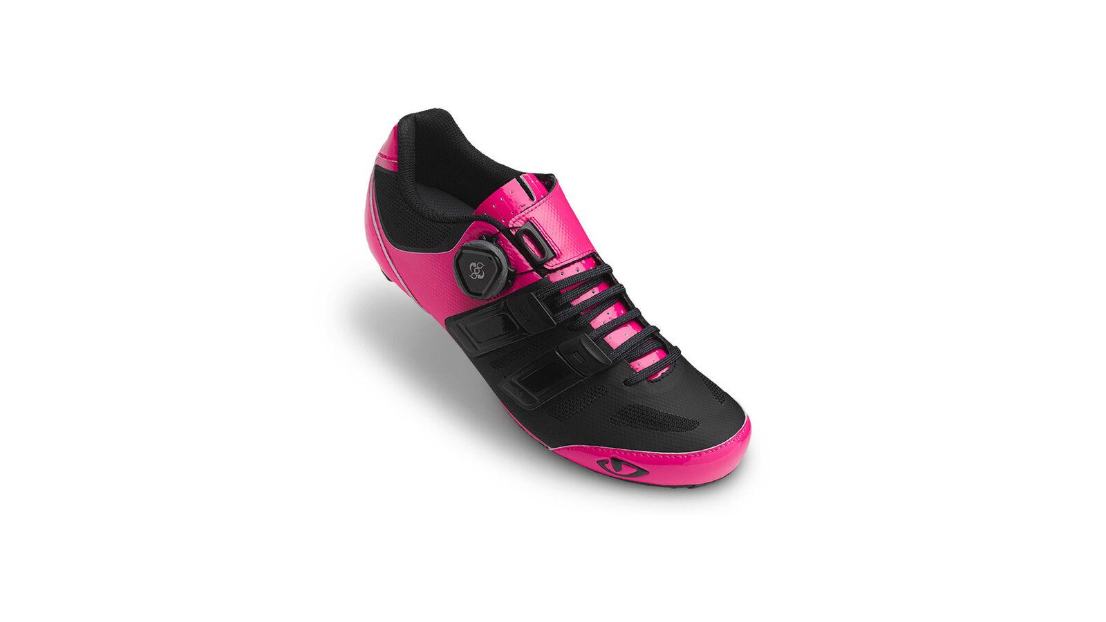 Giro Zapatillas de Bicicleta Raes Techlace Fucsia Impermeable Transpirable Fácil