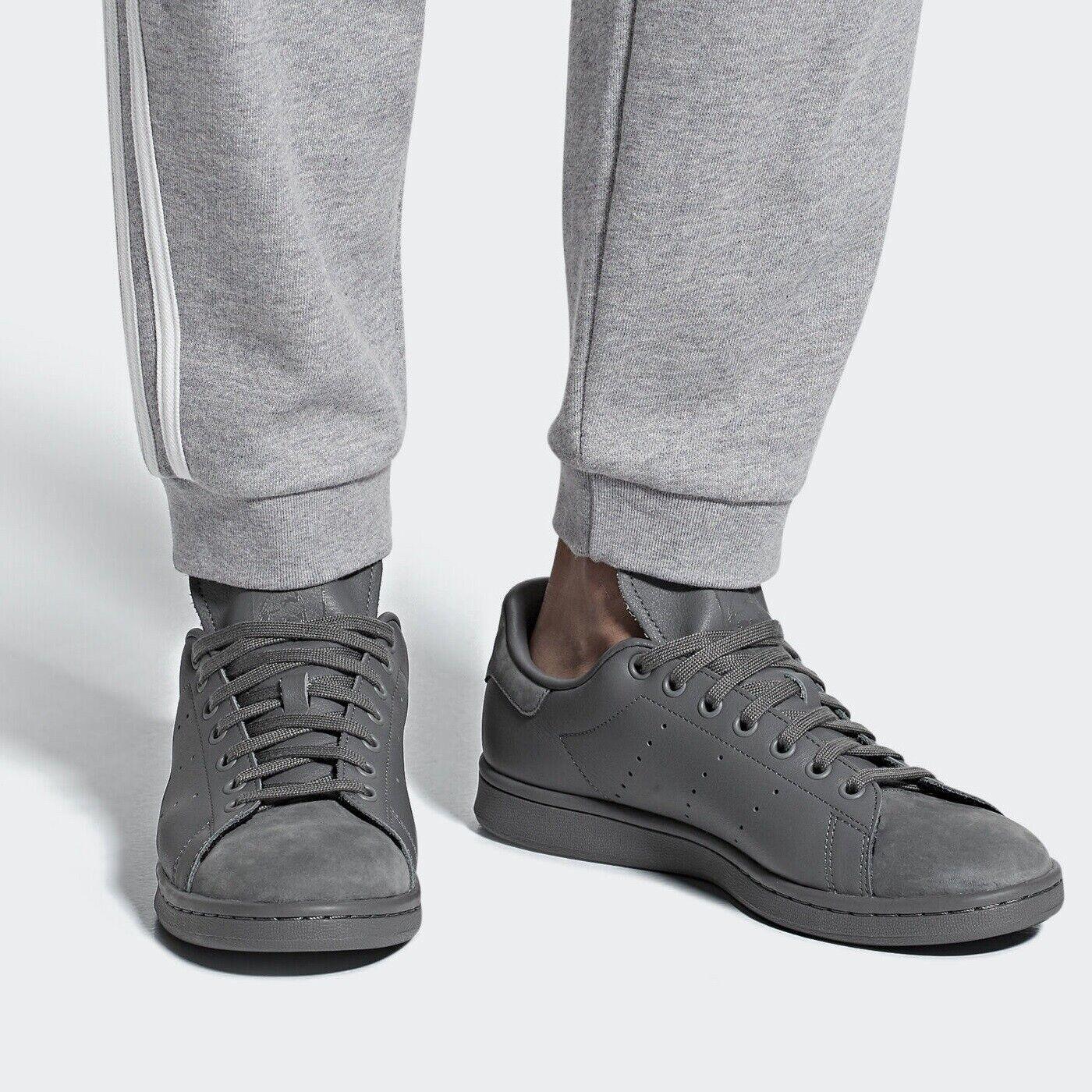 Adidas Originals Stan Smith Mens grau Leather Nubuck Trainers B37921 Größe 5-11