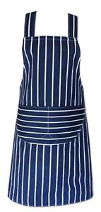 Schnelle-Reinigungsartikel-blau-amp-weiss-Metzger-Streifen-100-Baumwolle-Professionell