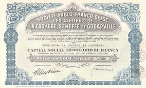 Ateliers-Anglo-Franco-Belge-de-La-Croyere-Seneffe-et-Godarville-accion-1943