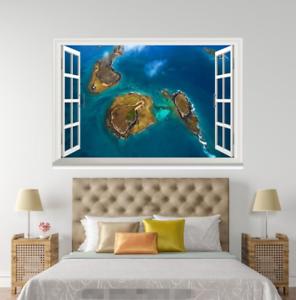 3D Islands bluee Sea 62 Open Windows Mural Wall Print Decal Deco AJ Wallpaper Ivy
