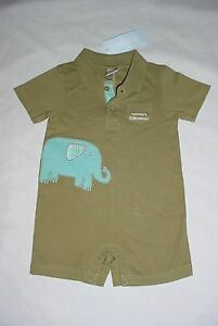 GYMBOREE BABY BOYS STRIPE POLO ONE-PIECE ROMPER MINI AVIATOR NWT 3-6M