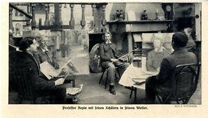 Der-russische-Maler-Professor-Repin-mit-seinen-Schuelern-in-seinem-Atelier-v-1913
