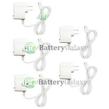 5 Fast White Battery Home Wall AC Charger for Android Samsung Galaxy Note 1 2 3