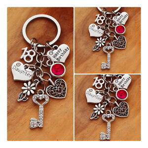 Image Is Loading Happy Birthday Gift Keyring Mum Daughter Sister 18th