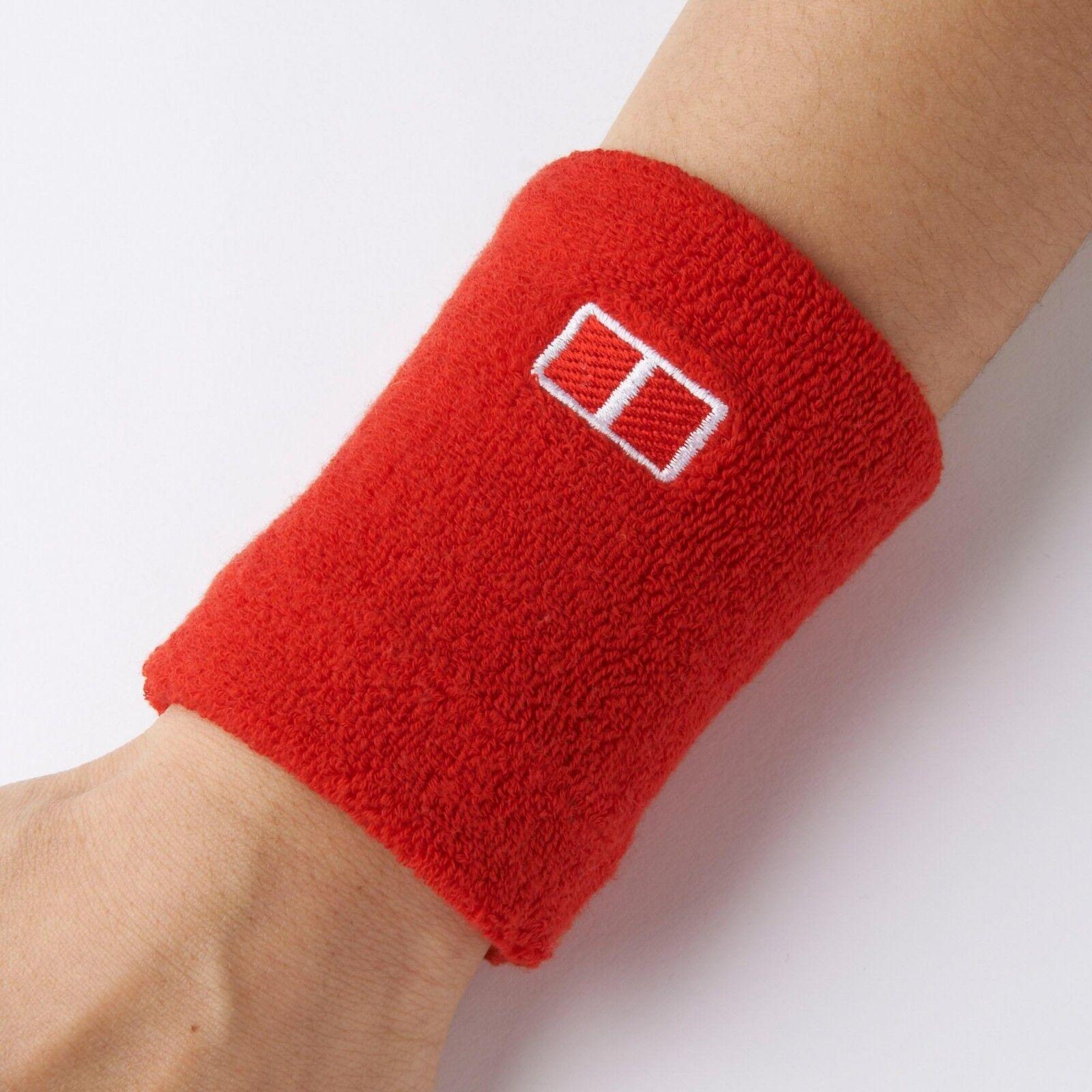 UNIQLO x Novak Djokovic Set of 2 Wristbands Kei Nishikori Tennis US Open Red NIP