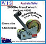 2000lb Hand winch 2 Speed 8M Sythetic Strap 4WD Boat Trailer-45202