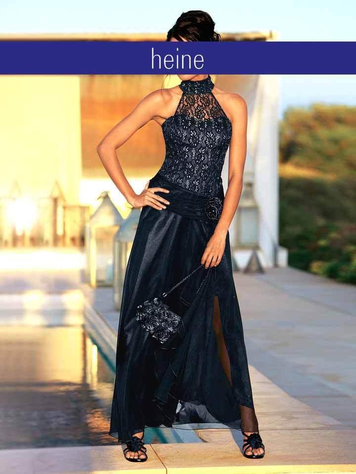 Kleid von Heine Kurzgröße 44 Schwarz  Damen Abendkleid Neu STARK rotUZIERT