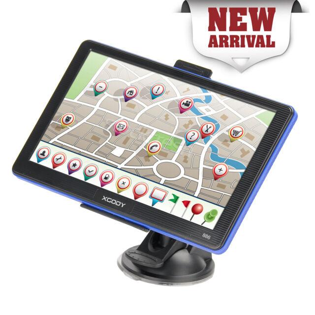 XGODY 7'' GPS Navigation for Car Truck Lorry Coach Sat Nav AU Maps POI Speedcam