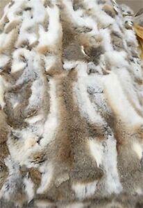 Luxury-Real-Rabbit-Fur-Blanket-Rug-Real-Fur-Blanket-Carpet-Cosy-Suitable-Throw
