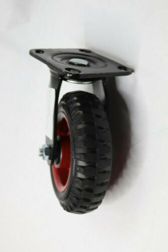 RUBBER WHEEL SWIVEL PLATE CASTER 160 X 50 Pack of 1