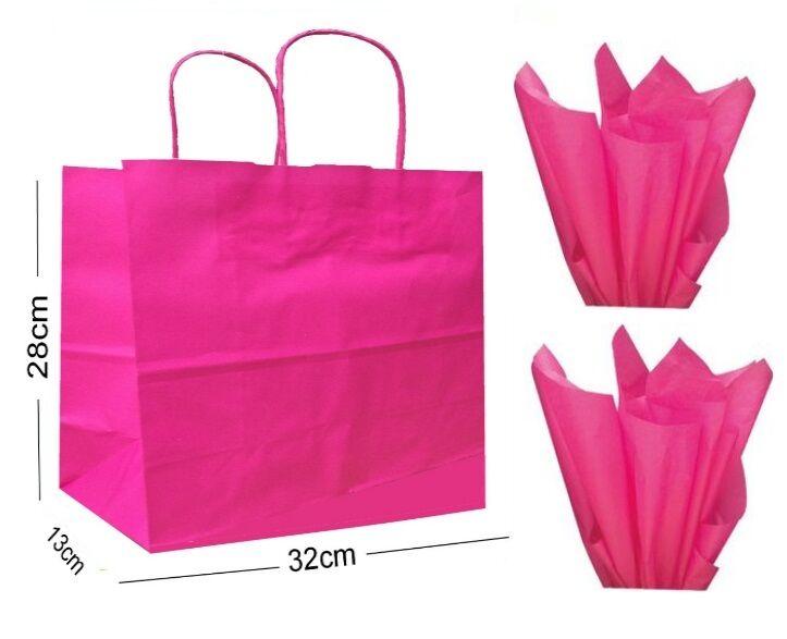 Rose Vif Paysage Grand Fête Papier Fête Grand Sac Cadeau ~ Boutique Magasin Sac & Tissu 6fbe6d